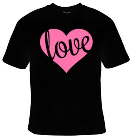 Love Heart T-Shirt Women's - Life Rush Apparel