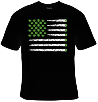 Marijuana Flag of Joints T-Shirt Women's - Life Rush Apparel