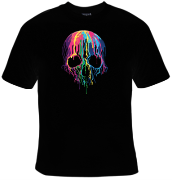 Melting Skull T-Shirt Men's - Life Rush Apparel