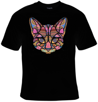 Cat Mosaic T-Shirt Men's - Life Rush Apparel