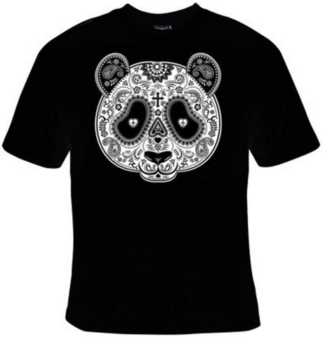Panda Bear Day Of The Dead Mask T-Shirt Women's - Life Rush Apparel