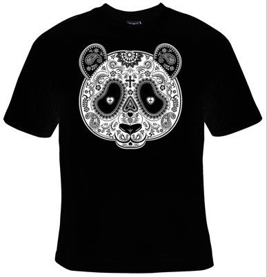 Panda Bear Day Of The Dead Mask T-Shirt Men's - Life Rush Apparel
