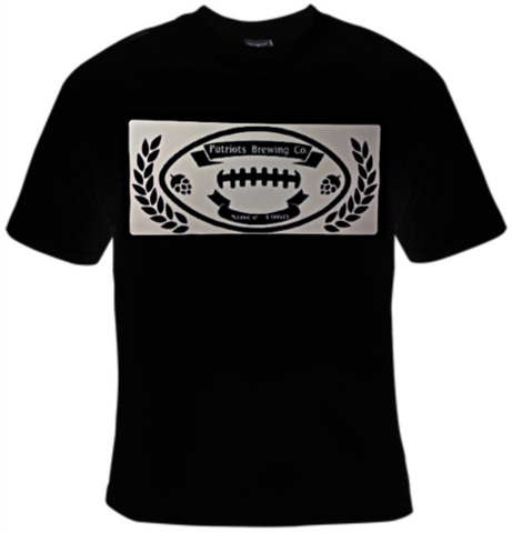 Patriots Brewing Company Football T-Shirt Men's - Life Rush Apparel