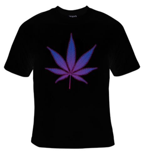 Pot Leaf Neon T-Shirt Men's - Life Rush Apparel