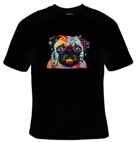 Pug Neon T-Shirt Women's - Life Rush Apparel