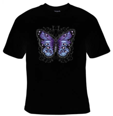 Purple Butterfly T-Shirt Women's - Life Rush Apparel