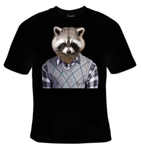 Raccoon In Sweater T-Shirt Women's - Life Rush Apparel