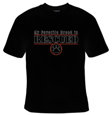 My Favorite Breed Is Rescued T-Shirt Women's - Life Rush Apparel