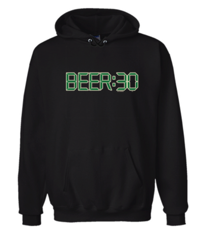 Beer: 30 Hoodie Sweatshirt Black - Men's / Women's - Life Rush Apparel