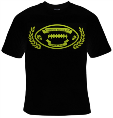 Seahawks Brewing Company Football T-Shirt Women's - Life Rush Apparel