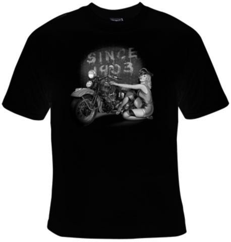 Since 1903 Biker Babe T-Shirt Men's - Life Rush Apparel