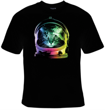 Space Cat T-Shirt Women's - Life Rush Apparel