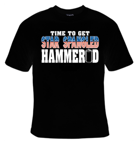 Time To Get Star Spangled Hammered T-Shirt Men's - Life Rush Apparel