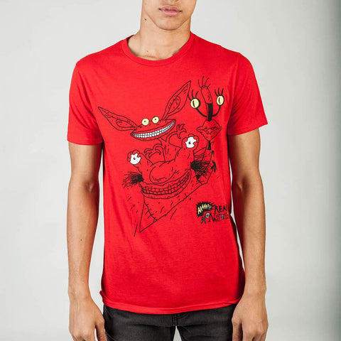 Real Monsters Mens Red T-Shirt - Life Rush Apparel