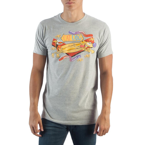 Catdog Mens Grey T-Shirt - Life Rush Apparel