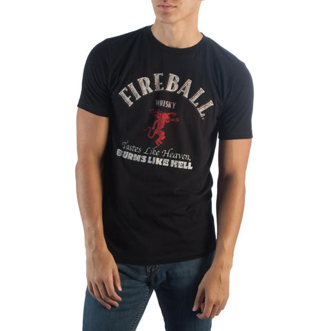Fireball Logo Black T-Shirt - Life Rush Apparel
