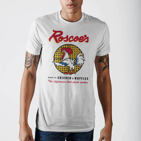 Mens Roscoes Chicken And Waffle T-Shirt - Life Rush Apparel