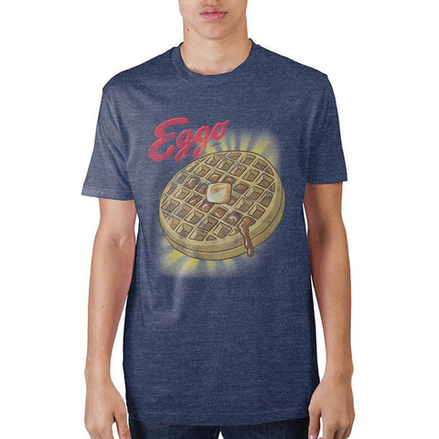 Kellogs Eggo With Glow Nvy Htr T-Shirt - Life Rush Apparel