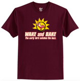 Wake and Bake The Early Bird Catches The Buzz T-Shirt Men's - Life Rush Apparel