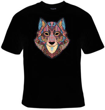 Wolf Mosaic T-Shirt Women's - Life Rush Apparel