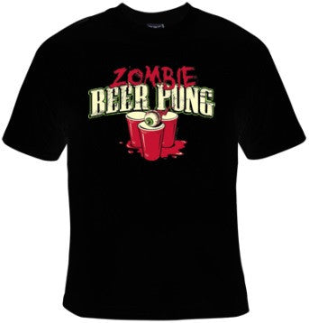 Zombie Beer Pong T-Shirt Men's - Life Rush Apparel