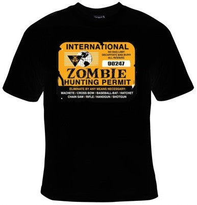 International Zombie Hunting Permit T-Shirt Men's - Life Rush Apparel