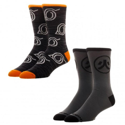 Naruto 2 Pack Crew Socks - Life Rush Apparel