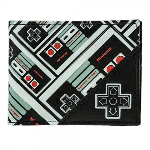 Nintendo Controller All Over Print Bi-Fold Wallet - Life Rush Apparel