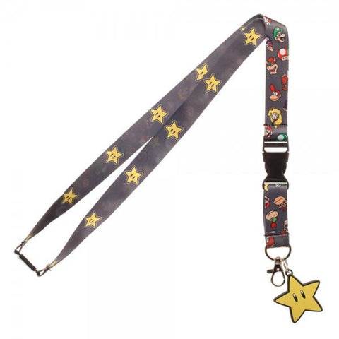 Super Mario Brothers Star Lanyard - Life Rush Apparel