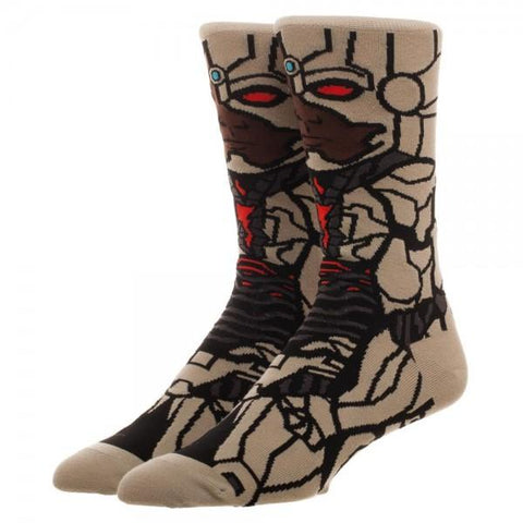 Justice League Cyborg 360 Character Crew Sock - Life Rush Apparel