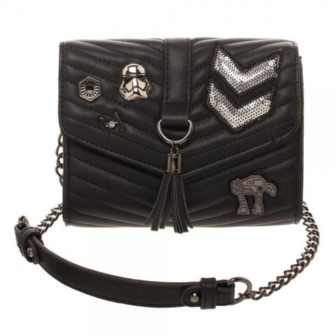 Dark Side Quilted Crossbody Bag With Tassel - Life Rush Apparel