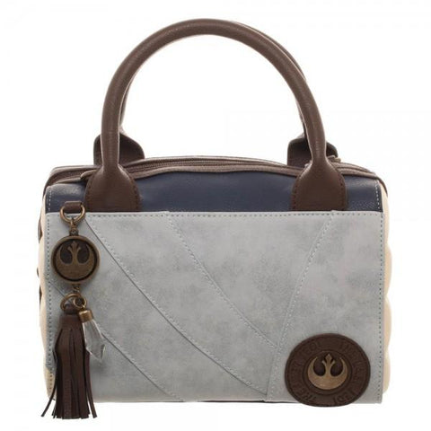 Rey Canvas and PU Leather Dotty Satchel - Life Rush Apparel