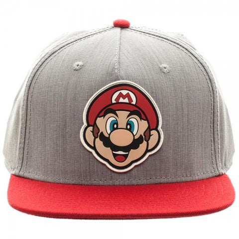 Nintendo Mario Rubber Sonic Weld Gray/Red Snapback - Life Rush Apparel