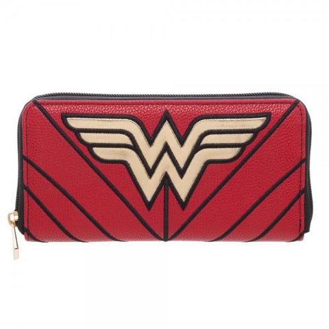 DC Comics Wonder Woman Zip Around Wallet - Life Rush Apparel