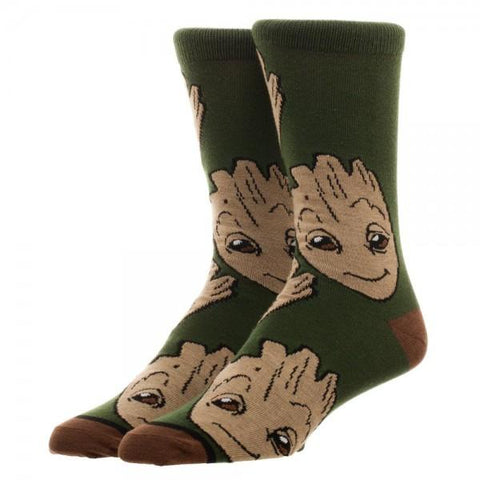 Guardians of the Galaxy Groot Large All Over Print Crew Socks - Life Rush Apparel