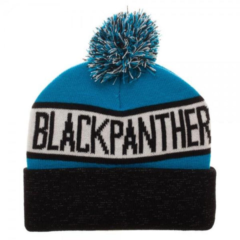 Black Panther Reflective Cuff Beanie - Life Rush Apparel