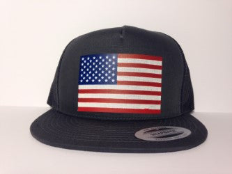 American Flag Hat Gray Snapback - Life Rush Apparel