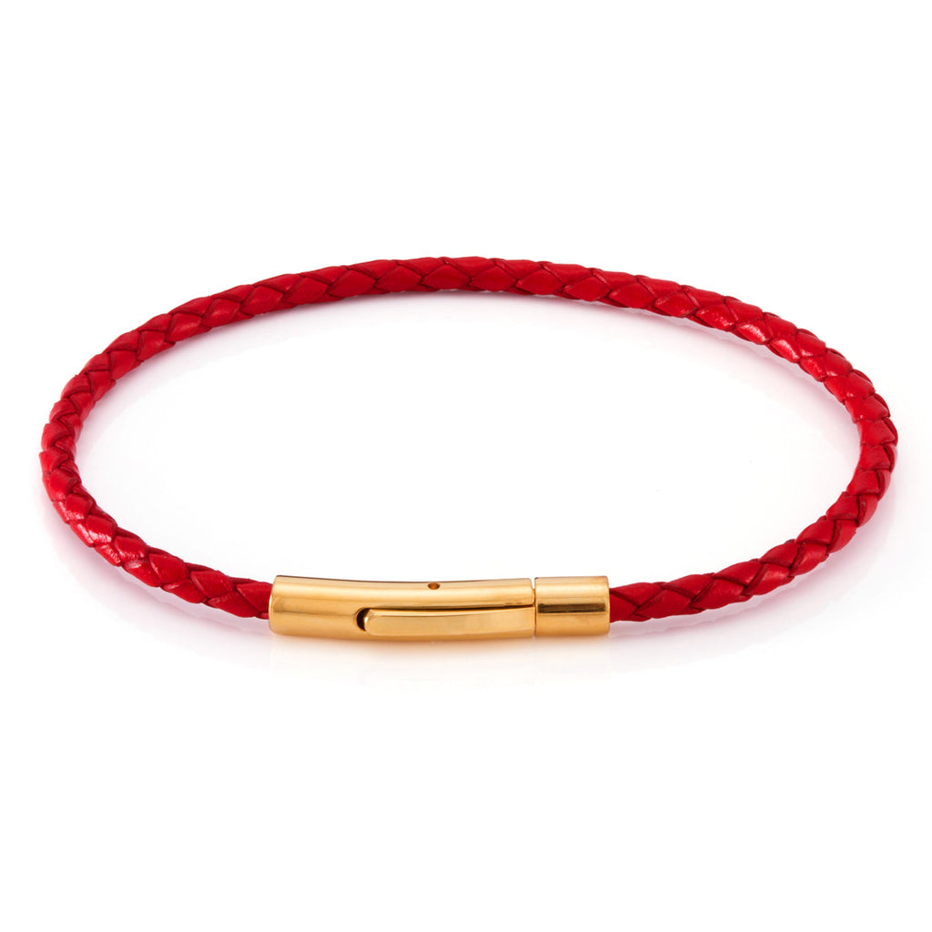 The Simplistic Leather Bracelet (Red)