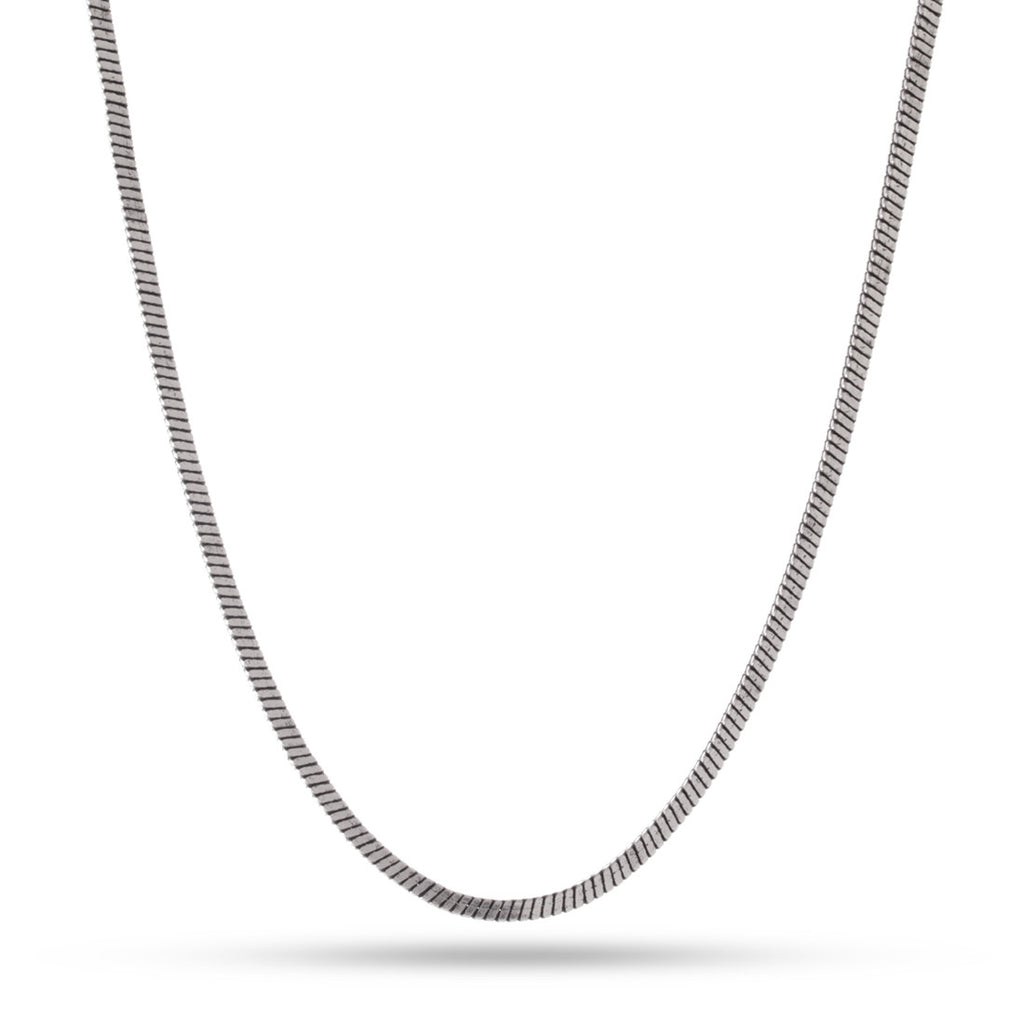 3mm Stainless Steel Snake Chain - Vintage Silver