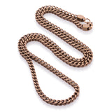 4mm, Vintage Stainless Steel Franco Chain (Gold)