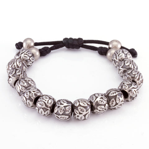 The Steel Flower Bracelet (Silver)