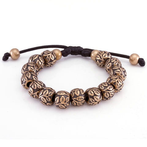 The Steel Flower Bracelet (Gold)