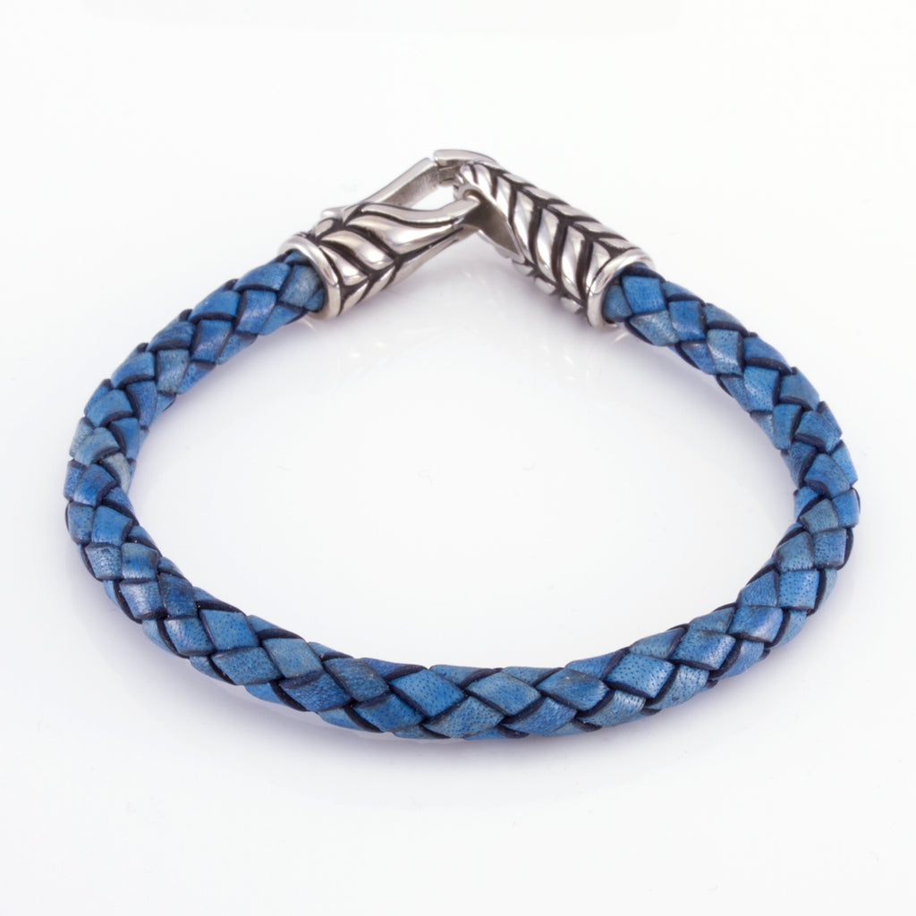 The Stainless Steel Feather Band (Blue)