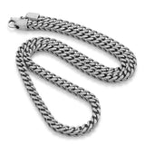 6mm, Vintage Stainless Steel Franco Chain (Silver)