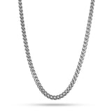 4mm, Vintage Stainless Steel Franco Chain (Silver)