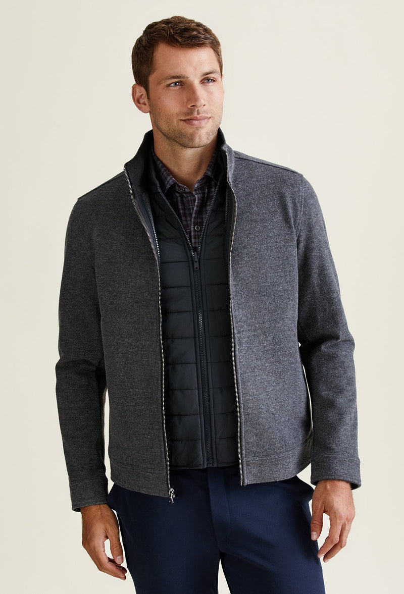 men's 3 in 1 jacket coat with fleece lined vest insert