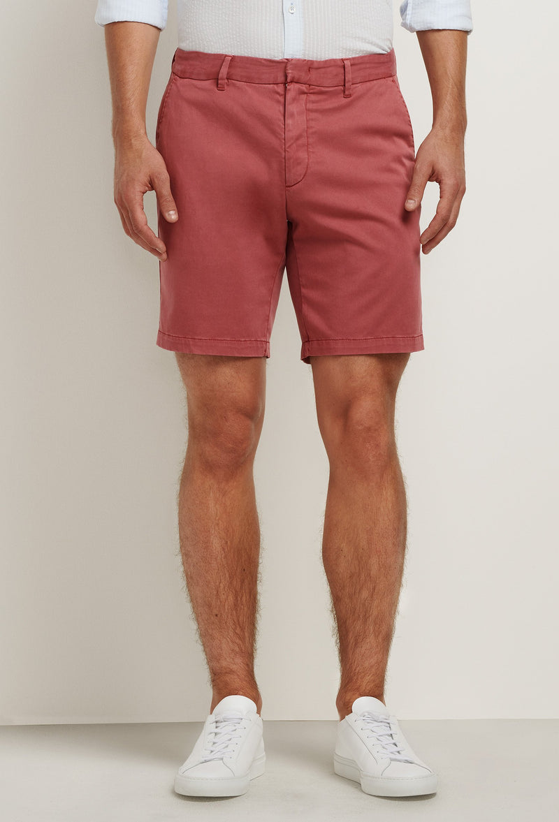 men's lightweight red cotton shorts with pockets
