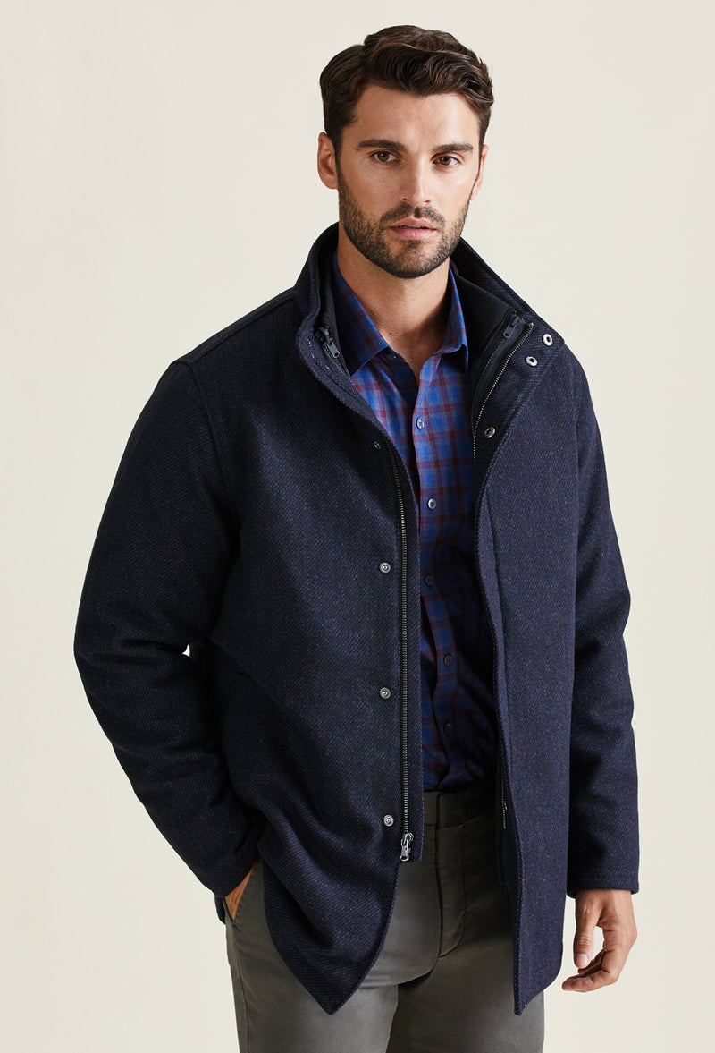 men's 3 in 1 winter coat jacket with zip