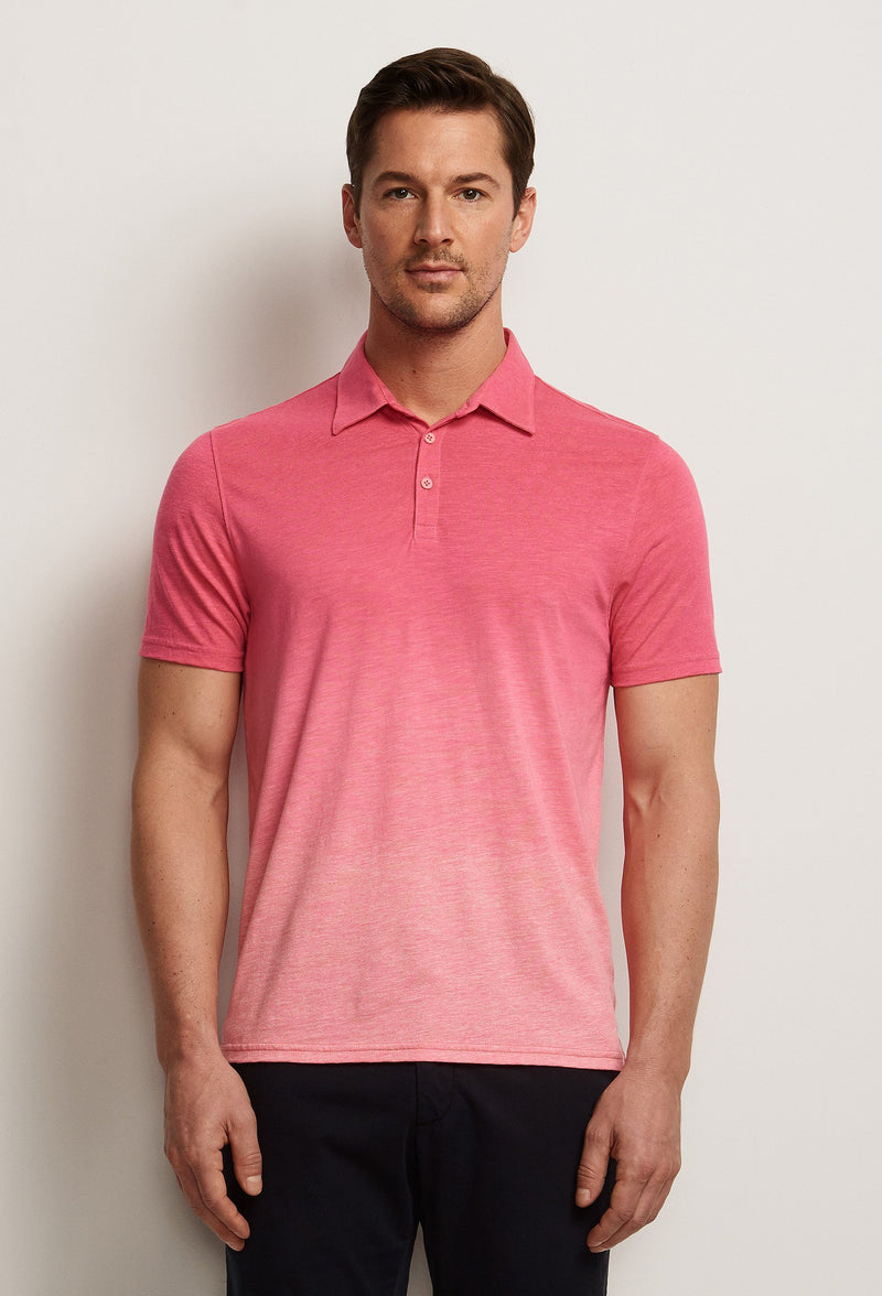 men's bright pink polo shirt gradient degrade effect