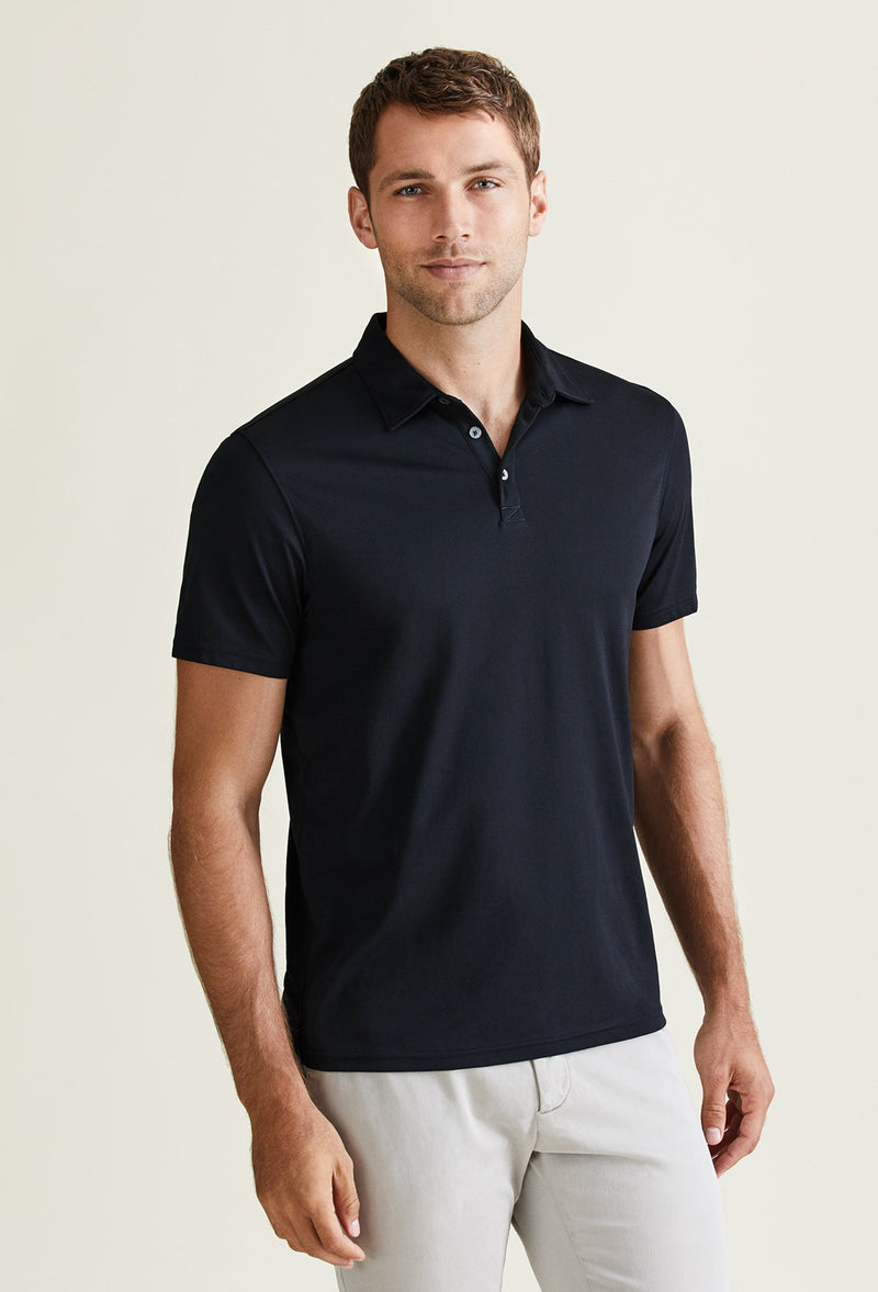 men's business casual polo shirt cotton lightweight